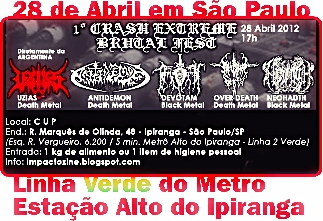igreja crash church show sabado dia 28 de abril de 2012