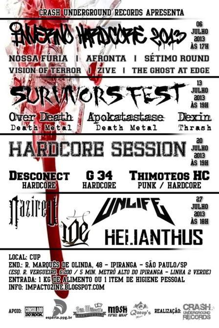 shows metal cristao rock gospel julho